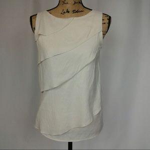 Zara Basic ivory zip back layered top small